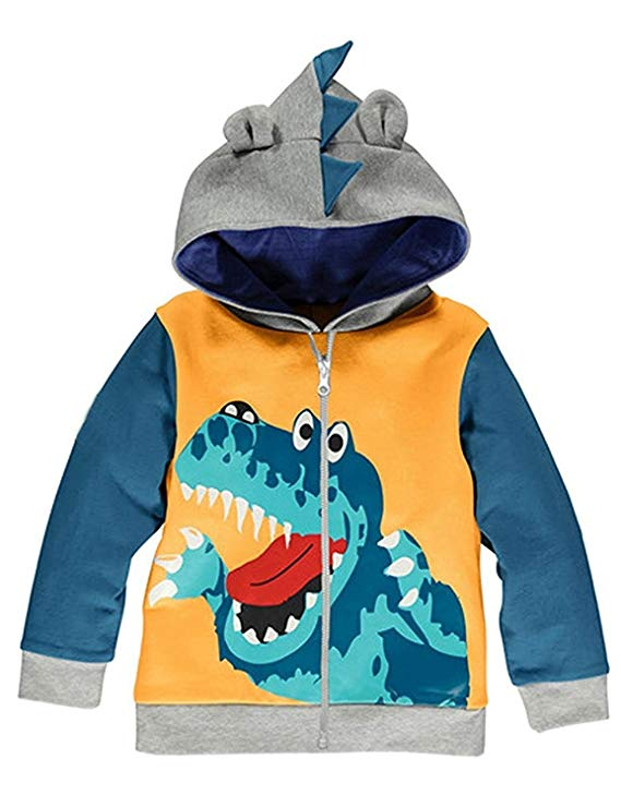 Animal Dinosaur Hoodie Sport Long Sleeve Cartoon Hooded