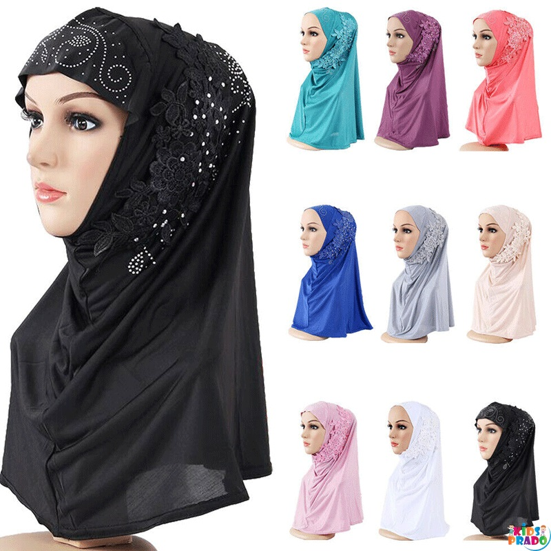 Ladies Headwear Hats Caps Amira, Beautiful Hijab for Kids, حجاب للأطفال ، وشاح للبنات ، شالات