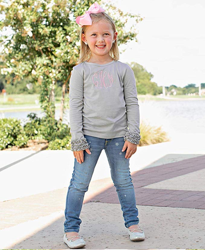 RuffleButts Little Girls Undershirt - Extra Soft Long Sleeved Layering