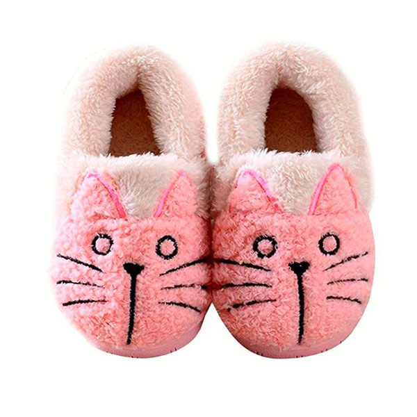 Kids Slippers Family Cute Cat Warm House Booties,  الجوارب الطفل