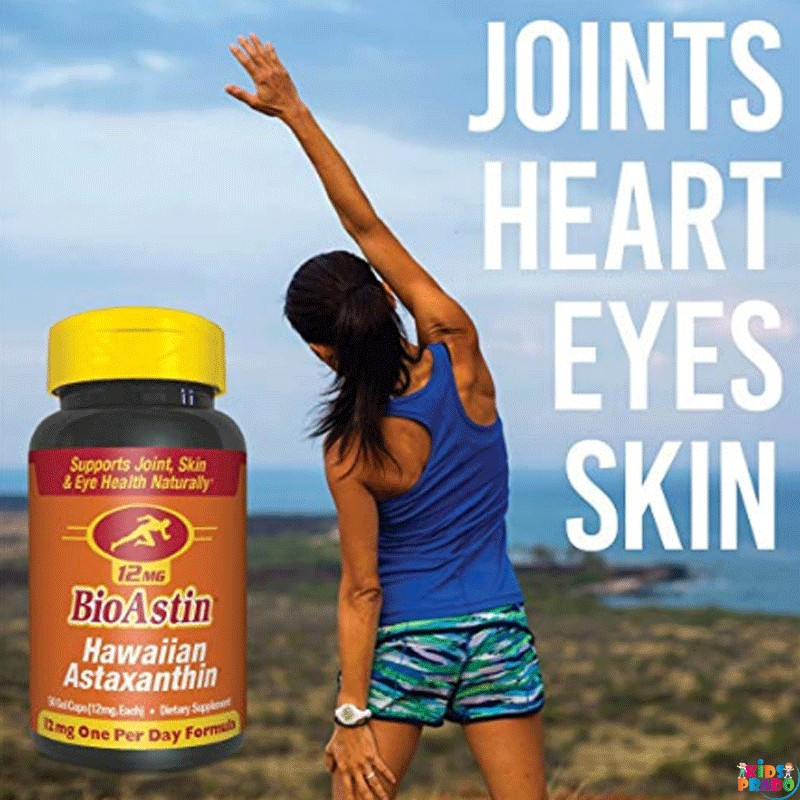 BioAstin Hawaiian Astaxanthin Natural Medicine for Supports Recovery from Exercise for Joints Skin etc, الطب الطبيعي لصحة الجسم
