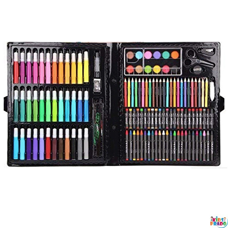 Deluxe Master Art Supplies Set for Kids - Perfect Beginner Artist Coloring and Drawing Kit Crayons,  علامات ملونة ، أقلام ملونة ، أقلام رسم