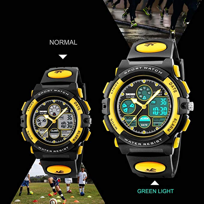 Kid Watch 50M Waterproof Sport LED Alarm Stopwatch Digital Child Quartz Wristwatch for Boy Girl