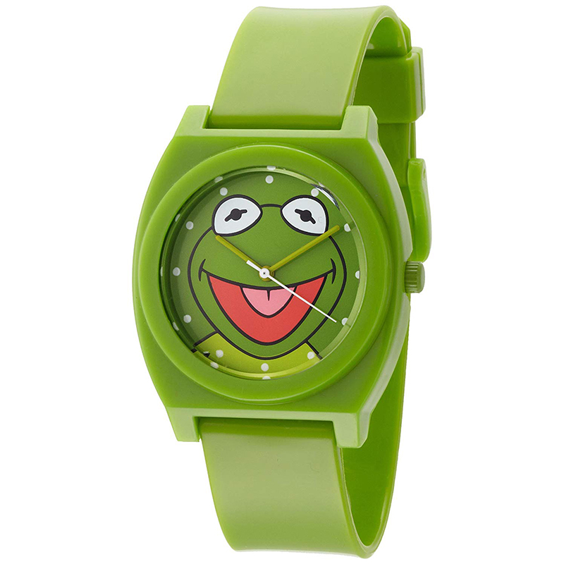 Kermit The Frog Dial Green Plastic Strap Watch