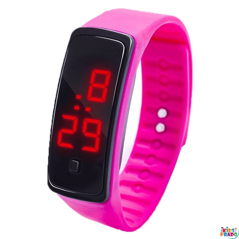 Color Silicone Band Creative Solid LED Wristwatches, ساعات LED ، ساعة رقمية للأطفال