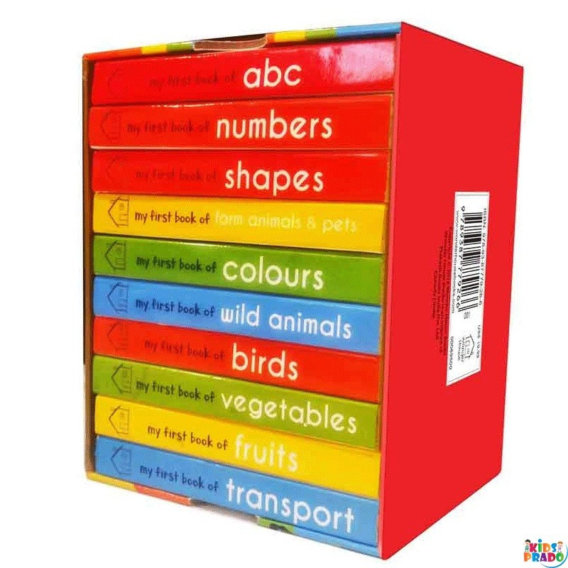 Box-set of Board Books for Kids Board book,  My first Library, Card Book for Babies, Kids Board Books, Board Books, كتب البطاقات,  ബോർഡ് പുസ്തകങ്ങൾ,  कार्ड बुक्स,