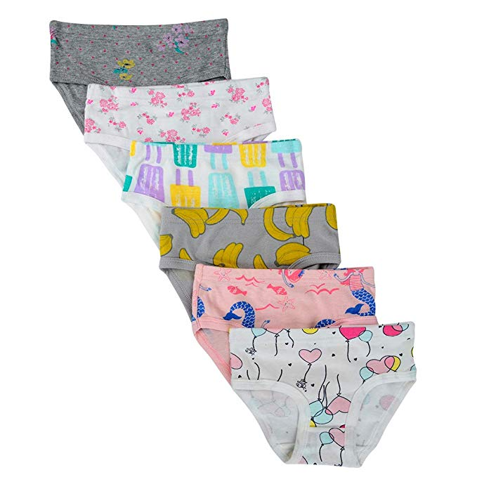 Cotton Panties Little Girls' Assorted Briefs(Pack of 6)
