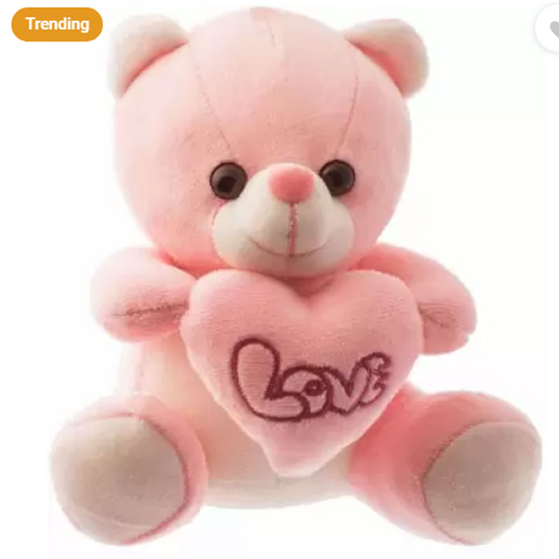 Dimpy Stuff Bear With Heart Pink, Teddy Bear Toys, Best Toys for Boys and Girls, टेडी बियर, ಮಗುವಿನ ಆಟದ ಕರಡಿ, دمية دب, ٹیڈی بیر, ours en peluche, കരടി പാവ, плюшевый мишка,