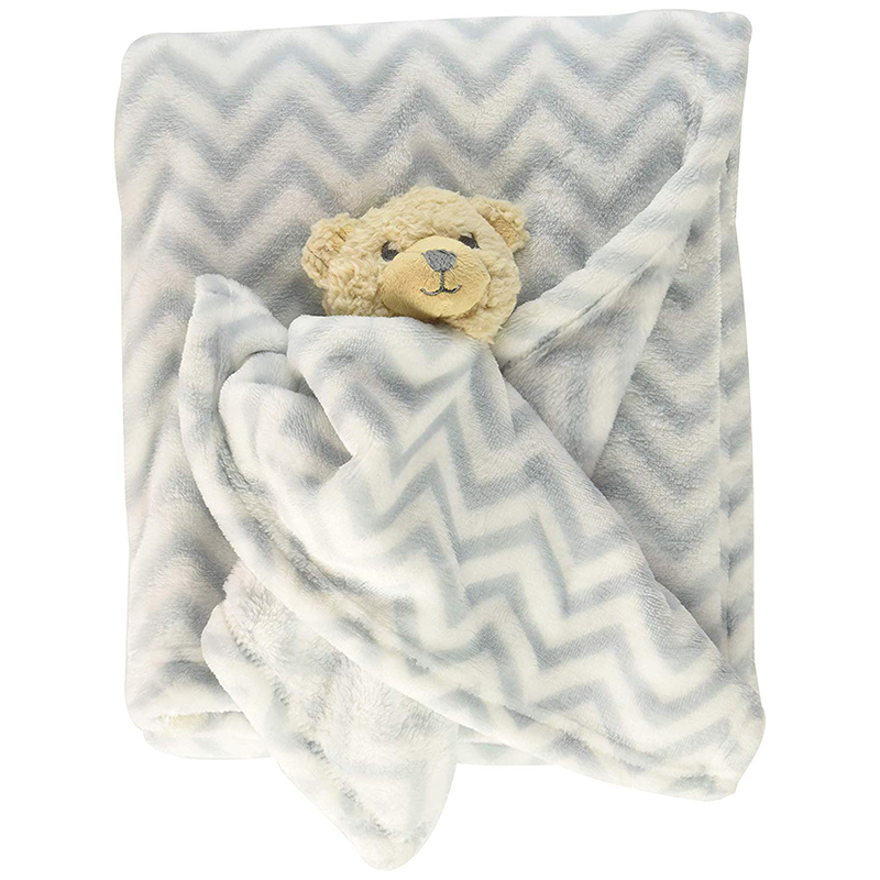 Plush Blanket and Animal Security Blanket Set