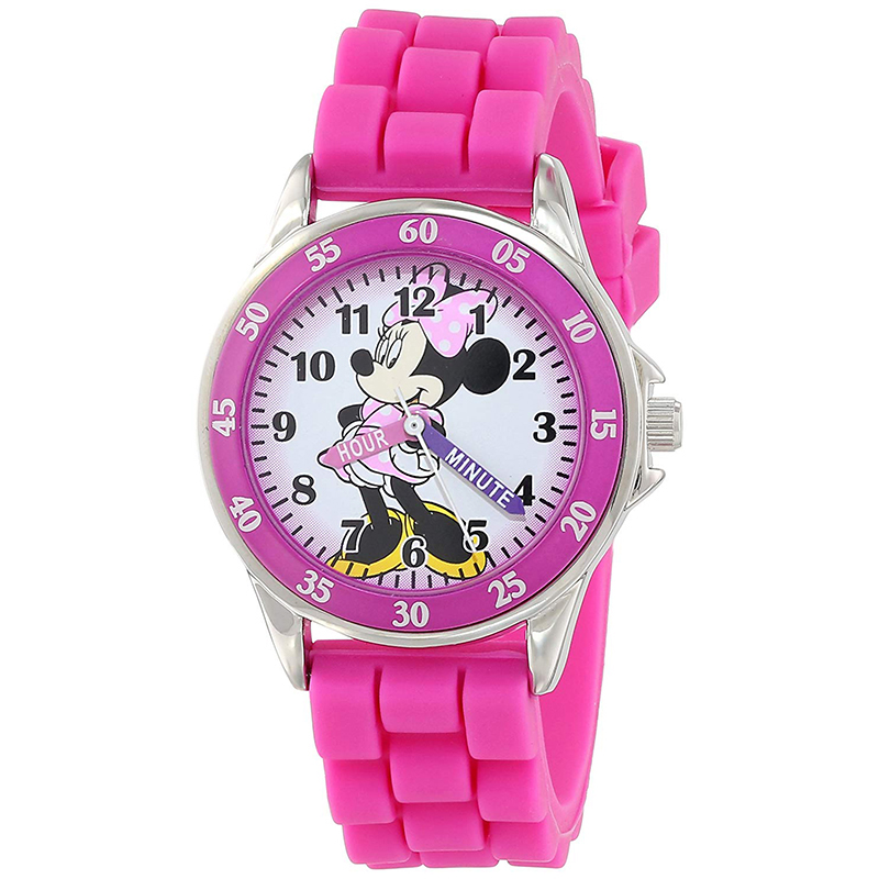 Minnie Mouse Pink Watch with Rubber Band