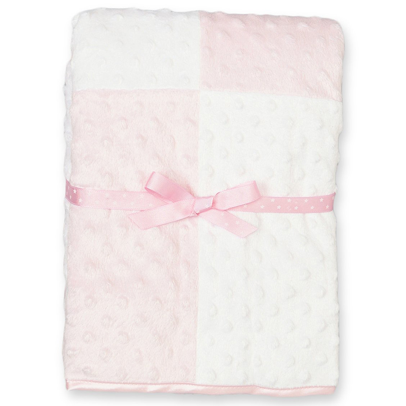 Baby Girls New born Minky Raised Dot Blanket, New Born Baby Blanket