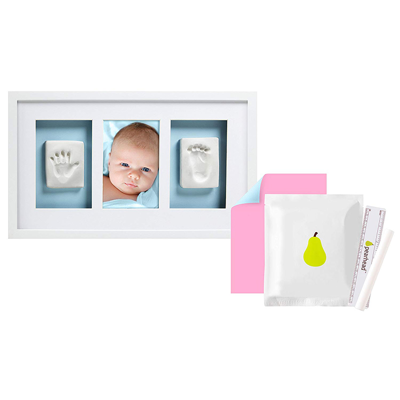 New born Baby Handprint and Footprint Deluxe Photo Frame