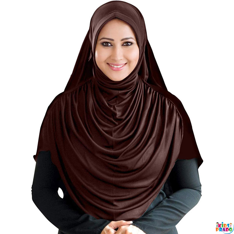 Pure Cotton Nikab, Ready to Wear Hijab, Women's Blended Single Layer Breathable Niqab