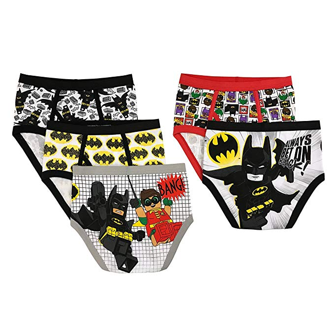 LEGO Boys' Batman 5-Pack Brief