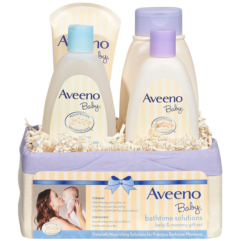 Aveeno Baby Bathtime Solutions Gift Set to Nourish Skin,  باث تايم لحلول الطفل