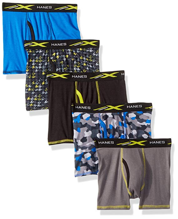 Hanes Boys' Active Cool X-Temp Boxer Brief 5-Pack