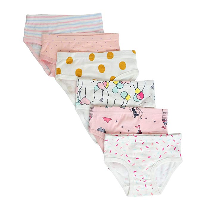 Closecret  Cotton Panties Little Girls' (Pack of 6)