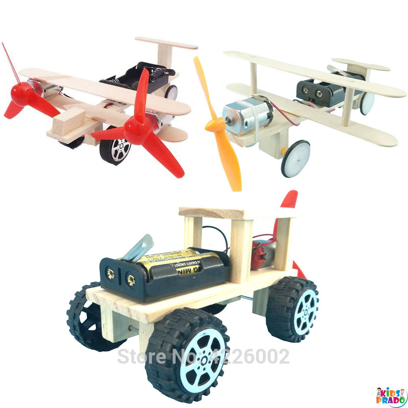 DIY Kit Plane Car Science Experiment Kids Electronic Education STEM physics Toys Technology Inventions Project