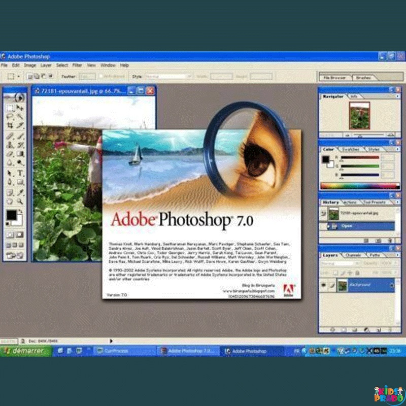 Photo Editing Software, Official Download and with Serial Key, أدوبي فوتوشوب 7.0