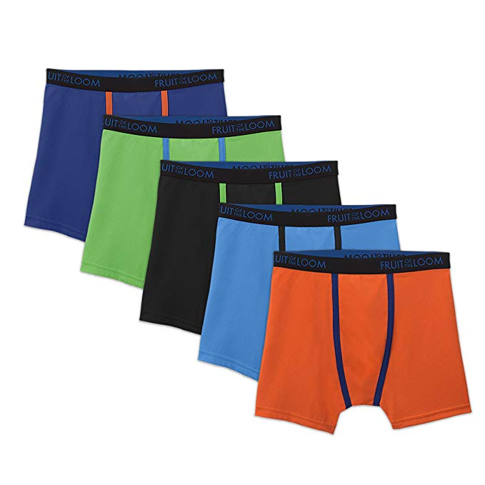 Fruit of the Loom Boys 5 Pack Underwear