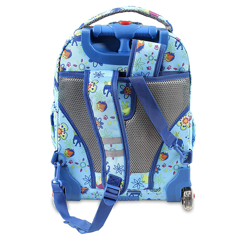 Lollipop Kids' Rolling Backpack with Lunch Bag