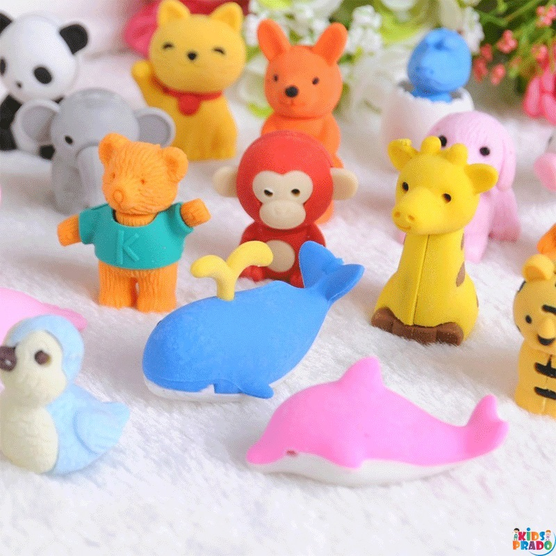 Animal Erasers Bulk Kids Pencil Erasers Puzzle Erasers, Mini Novelty Erasers for Classroom Rewards, محايات رصاص , محايات شكل الحيوان , ادوات مكتبيه