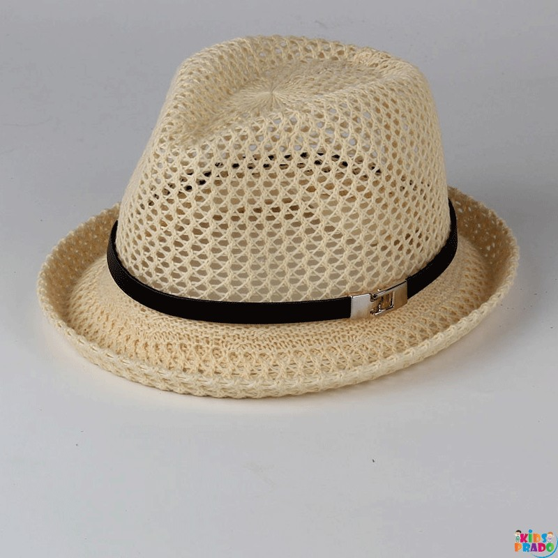 Straw Hat Simple Style Hollow Out Breathable Fashion Accessory, قبعة تنفس