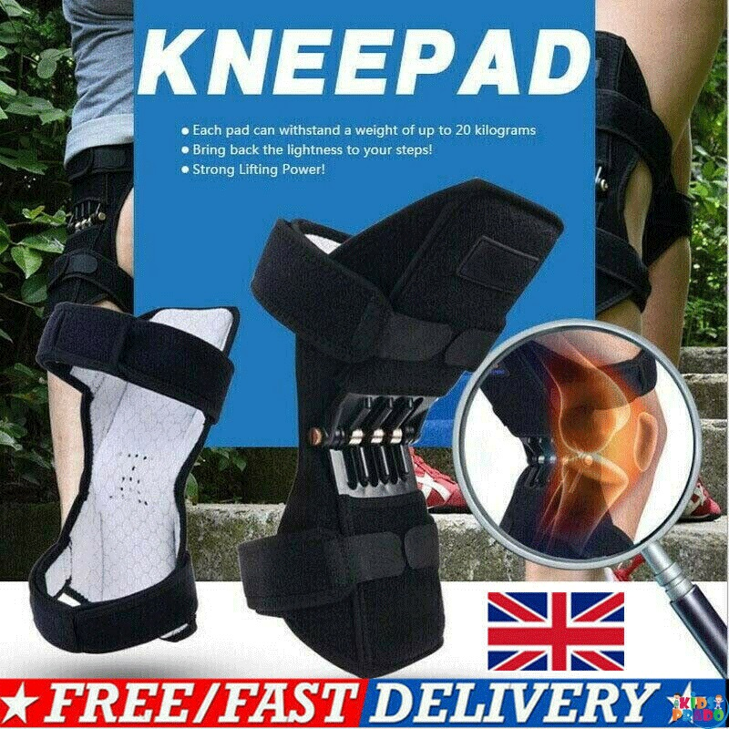 Power Knee Legs Stabilizer Pad Lift Joint Support Powerful Rebound Spring Forces, Knee support Pads,
