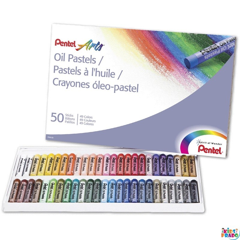 Pentel Arts Oil Pastels, 50 Color Set (PHN-50), Color Pastels, لون الباستيل ، باستيل الزيت