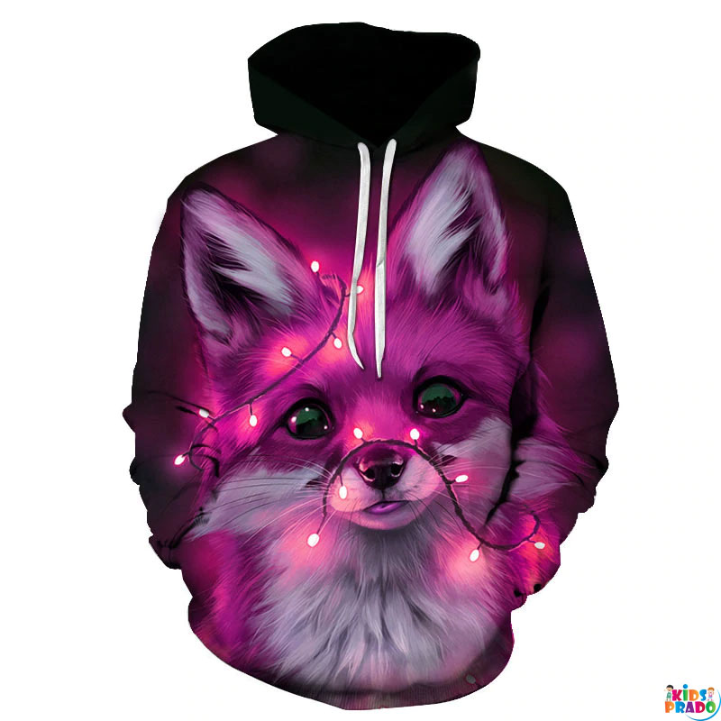 Sell 3D printed animal fox Unisex Sweatshirt Hoodies Cute Color Casual Hoodies, Best Hoodies For Teenagers