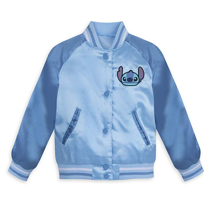 Disney Stitch Varsity Jacket for Kids - Blue