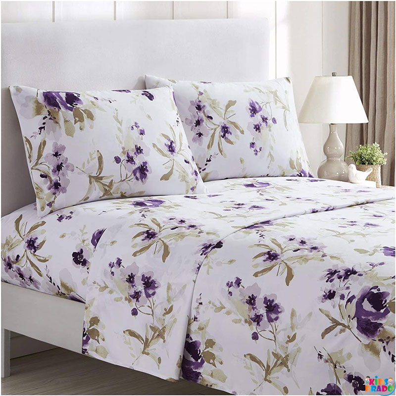 Wrinkle-free  Stain Resistant - Hypoallergenic Quality Bedsheet Mellanni Bed Sheet Set - Brushed Microfiber 1800 Bedding